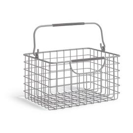 Argos Home Small Wire Basket - Matt Grey