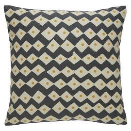 Habitat Darcy Geometric Cotton Cushion - Charcoal
