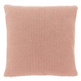 Habitat Paloma 45 x 45cm Knitted Cotton Cushion - Pink