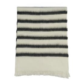 Habitat Elouise Fluffy Stripe Throw - Black and White