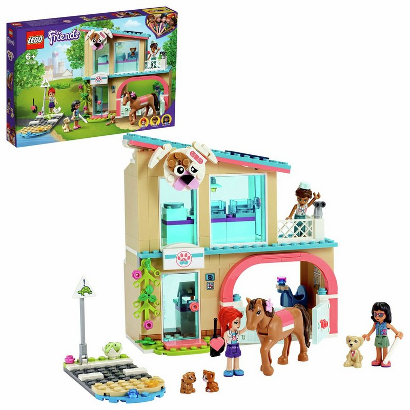 LEGO Friends Heartlake City Vet Clinic Playset 41446 from Argos