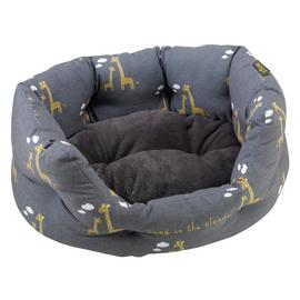 Zoon Giraffe Oval Pet Bed - Small