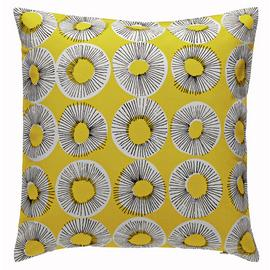 Habitat Evelyn 45 x 45cm Patterned Cushion - Yellow