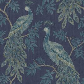 Arthouse Lazzaro Heavy Weight Vinyl Blue Wallpaper