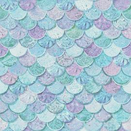 Arthouse Mermazing Scales Blue Wallpaper