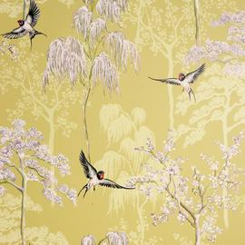 Arthouse Japanese Garden Ochre Yellow Wallpaper