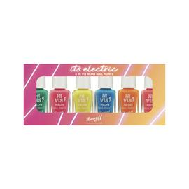 Barry M Cosmetics Hi Vis Neon Nail Paint Set x 6