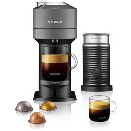 Magimix Nespresso Vertuo Next Pod Coffee Machine Bundle Grey
