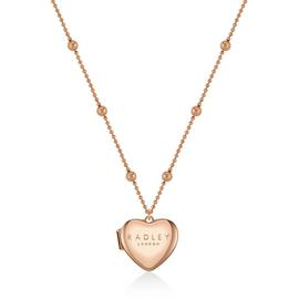 Radley Ladies Rose Gold Plated Heart Locket Pendant Necklace