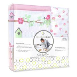 BreathableBaby Cotbed Set - English Garden