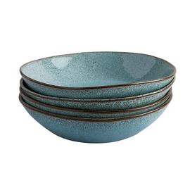 Habitat Olmo Speckled Set Of 4 Pasta Bowls - Turquoise