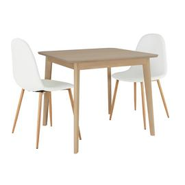 Habitat Skandi Oak Table and 2 Beni Chairs
