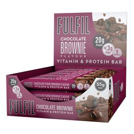 FULFIL Chocolate Brownie Vitamin and Protein Bars 15 x 55g