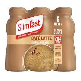 SlimFast Café Latte Ready To Drink Shakes 6x325ml