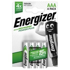 Energizer Rechargeable Power Plus AAA Batteries - Pack of 4