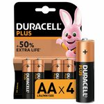 more details on Duracell Plus Power Alkaline AA Batteries - Pack of 4.