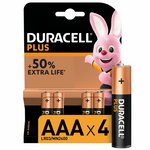 more details on Duracell Plus Power Alkaline AAA Batteries - Pack of 4.