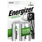 more details on Energizer 2500 mAh Rechargeable C Batteries - 2 Pack.