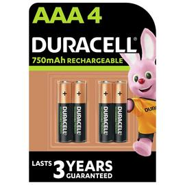 Duracell Recharge Plus AAA Rechargeable Batteries -pack of 4