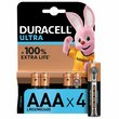 more details on Duracell Ultra Power AAA Alkaline Batteries - Pack of 4.