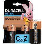 more details on Duracell Ultra Power Alkaline C Batteries - Pack of 2.