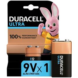 Duracell Ultra Alkaline 9V Battery - Pack of 1