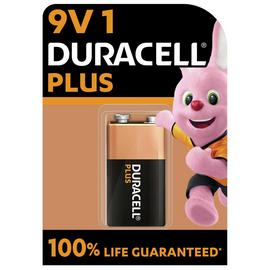 Duracell Plus Alkaline 9V Battery - Pack of 1