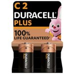 more details on Duracell Plus Power Alkaline C Batteries - Pack of 2.