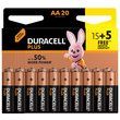 more details on Duracell Plus Power Alkaline AA Batteries -Pack of 15+5 Free