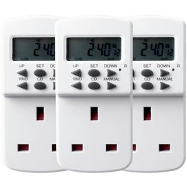 Triple Pack 7-Day Electronic Timers