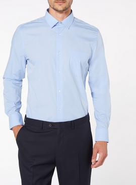 2 Pack Blue Tailored Fit Shirts