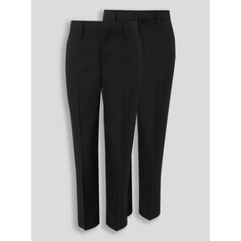 Navy Woven Trouser With Reinforced Knees 2 Pack