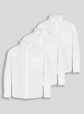 White Stain Resistant School Shirts 3 Pack