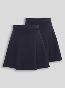 Grey Jersey Skater Skirts 2 Pack