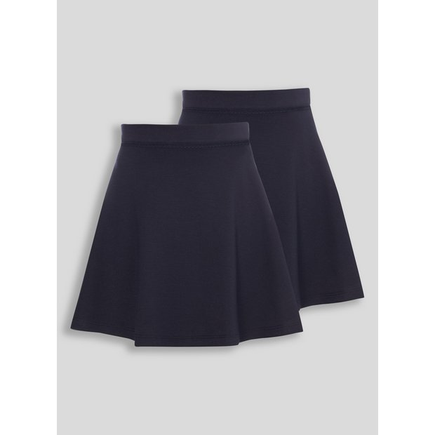 a6b01d13a1 Buy Navy Jersey Skater Skirts 2 Pack - 12 years | Girls school uniforms ...
