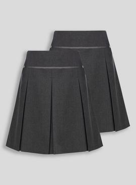Online Exclusive Navy Plus Fit Permanent Pleat Skirt 2 Pack