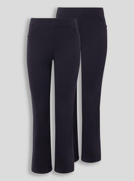Black Jersey Trousers 2 Pack