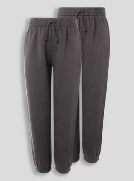 Grey Elastic Cuffed Joggers 2 Pack