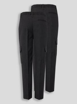 Charcoal Cargo Trousers 2 Pack