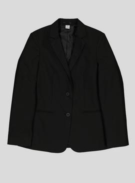 Black Right-Facing Button Stain Resistant Blazer