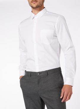 White Slim Fit Shirts 2 Pack