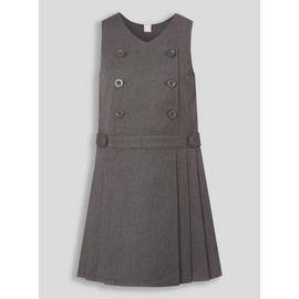 Grey Permanent Pleat Dress