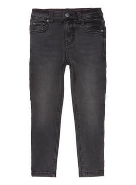Black Washed Super Skinny Denim Jean