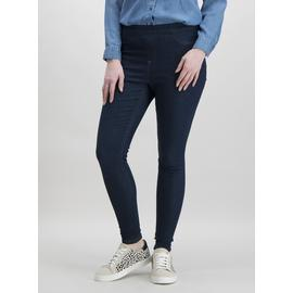 Dark Denim Jeggings With Stretch