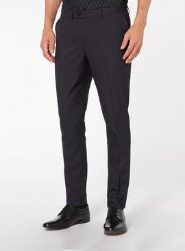 Purple Skinny Fit Stretch Trouser