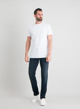 Mid Wash Denim Slim Fit Jeans With Stretch