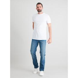 Light Wash Denim Slim Fit Jeans With Stretch