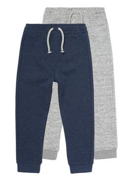 Multicoloured Elasticated Joggers 2 Pack (9 months-5 years)