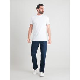 Dark Denim Straight Leg Jeans With Stretch