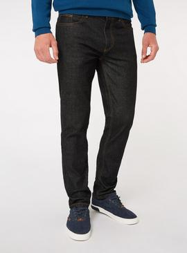 Black Wash Denim Slim Fit Jeans With Stretch